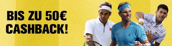 US Open bei Interwetten: 50€ Cashback