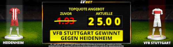 LVBet Quotenboost zweite Liga Stuttgart
