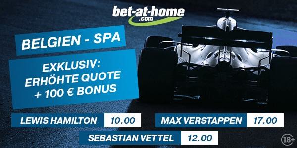 Bet at home mit enhanced odds zum GP in Spa