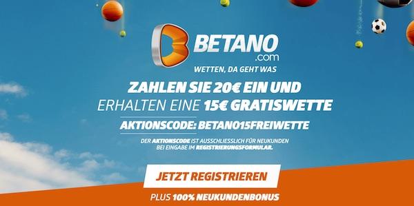 Betano Bonus Code: 15 Euro on top