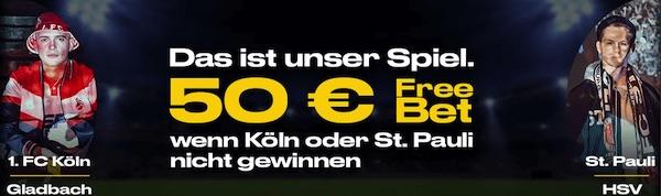 Bwin: Bis zu 50€ bei St.Pauli-HSV / Köln-Gladbach zurückerhalten