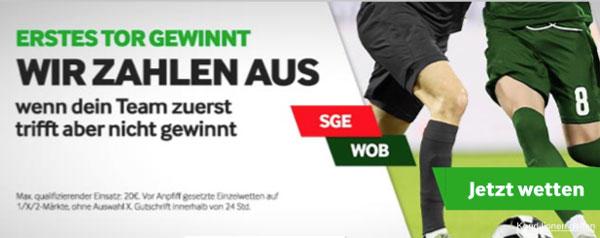 Betway Wette Frankfurt Wolfsburg Promotion