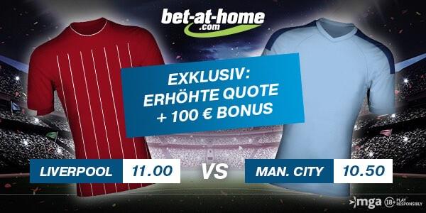 Bet-at-home Quotenboost auf Sieg Liverpool und Sieg ManCity