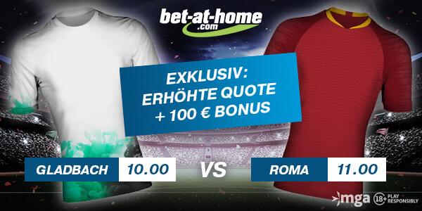 Bet-at-home enhanced odds Sieg Gladbach und Roma