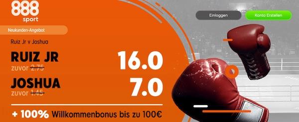 888sport: 16.0 auf Ruiz, 7.0 auf Joshua