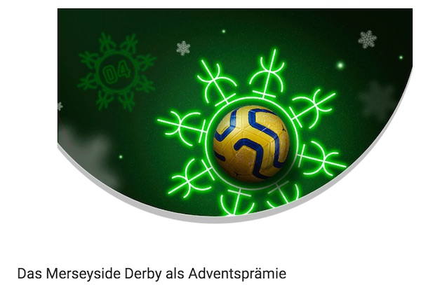 Unibet 20+10 Aktion zum Merseyside Derby