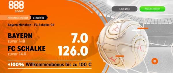 888sport Bayern Schalke Bundesliga Quotenboost