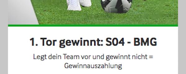 Bei Betway gewinnt dir das 1. Tor deiner Mannschaft deine Schalke - Gladbach Wette