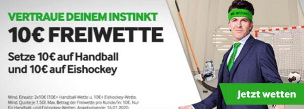 Betway Wette Handball Eishockey Gewinn