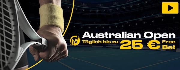 Bwin verteilt täglich eine Gratiswette für eine Australian Open Kombiwette