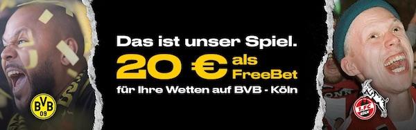 Bwin Gratiswette als Belohnung für BVB - Köln Tipps