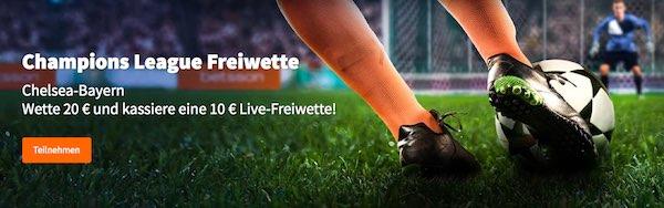 Betsson bietet Live-Gratiswette zu Chelsea gegen Bayern