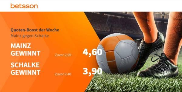 Betsson Quotenboost Wette Mainz Schalke