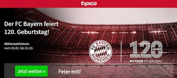 Tipico Bayern Jubiläum