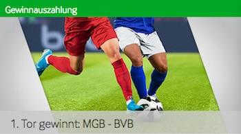 Betway zahlt bei Gladbach gegen BVB nach erstem Tor aus