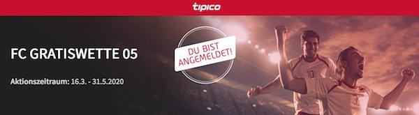 Tipico verschenkt wöchentlich eine 5 Euro Gratiswette