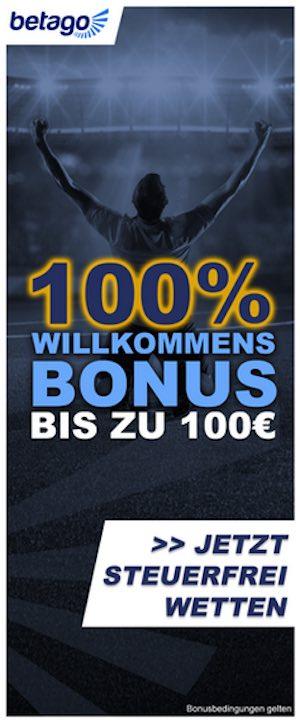Betago 100 Prozent Bonus für Neukunden