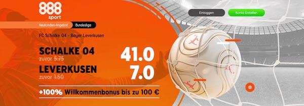 888sport Schalke 04 Leverkusen verbesserte Quoten wetten