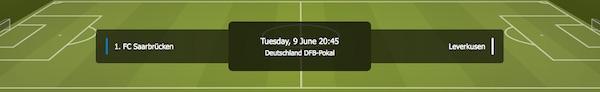 Hopa DFB-Pokal Wetten auf Saarbrücken vs. Leverkusen