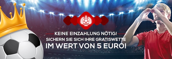 5 Euro Gratiswette von Tipbet für eine Registrierung nach dem 16. Juni 2020