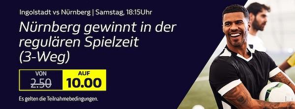 William Hill Odds Boost auf Nürnberg in der Relegation zur 2. Bundesliga
