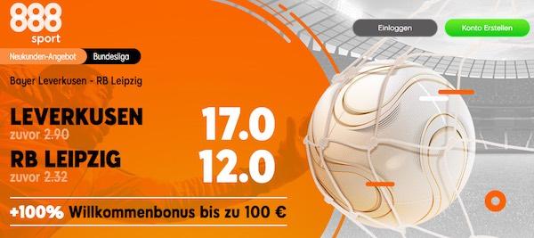 888sport Quotenboost zum Bundesliga-Duell Leverkusen gegen Leipzig