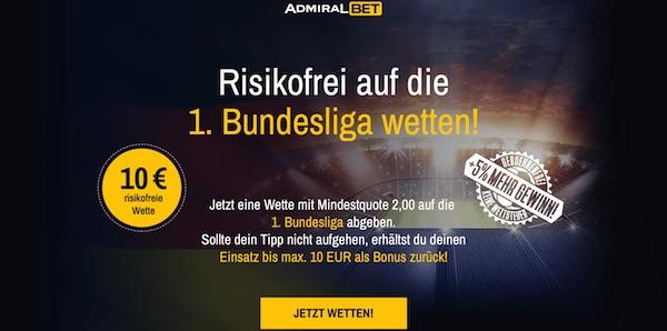 Admiral Bet Bundesliga risikofrei wetten