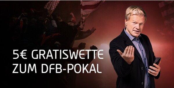 Tipico DFB Pokal 5 Euro Freiwette