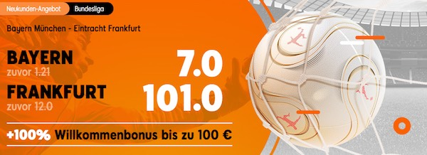 888sport Quoten Boost auf die Bundesliga-Partie Bayern gegen Frankfurt