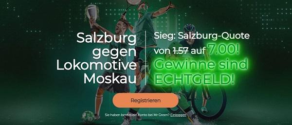 Mr Green Wette Salzburg Lok Moskau Champions League Quote Boost