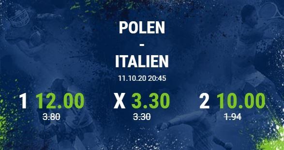 quotenboost wette bet at home polen italien