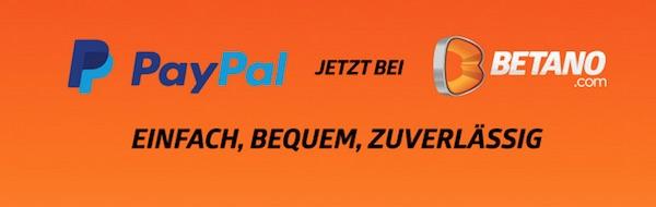 Betano PayPal Einzahlung
