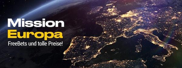 Bis zu 50 Euro Bwin Freebets mit der Mission Europa