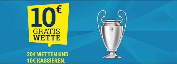 Sportwetten de Champions League Freiwette 3 Spieltag