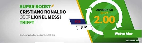 Betway Quotenboost Ronaldo Messi