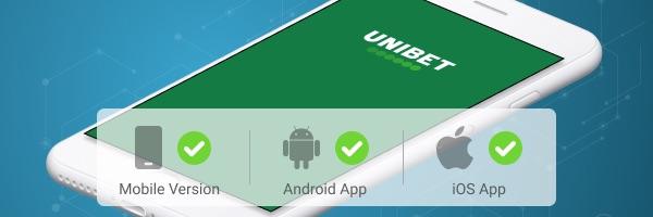 Unibet Sportwetten App Grafik