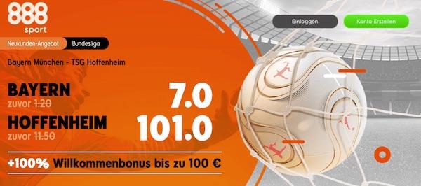888sport Quotenboost Bayern Hoffenheim
