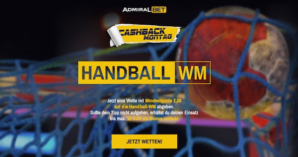 Admirabet Cashback Monday Handball