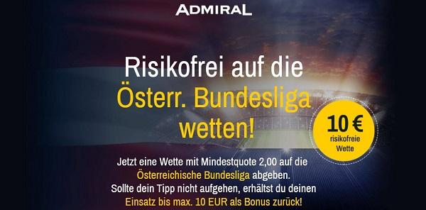 oesterreich bundesliga wette admiral ohne risiko
