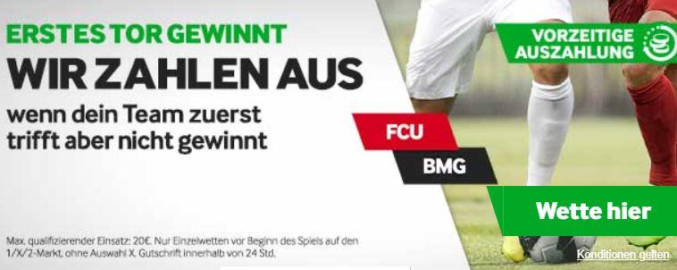 premierentor bei betway bringt bei union berlin gegen gladbach gewinnauszahlung