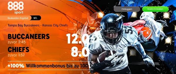 888sport odds boost super bowl nfl finalduell tampa bay kansas city