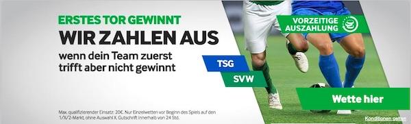 Betway zahlt beim ersten Tor aus - Hoffenheim Werder Bremen