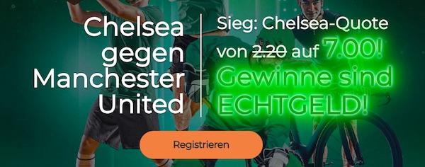 Erhöhte Quoten von Mr Green zu Chelsea Manchester United