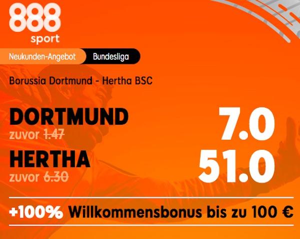 Neukunden Boost Borussia Dortmund vs Hertha BSC Berlin