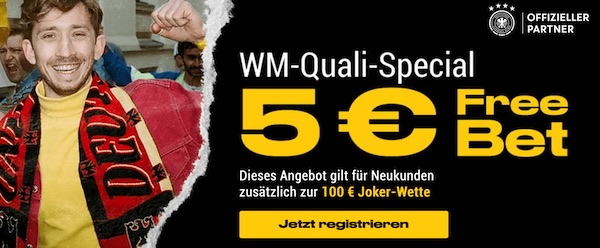 WM Quali Freiwetten Special bei Bwin