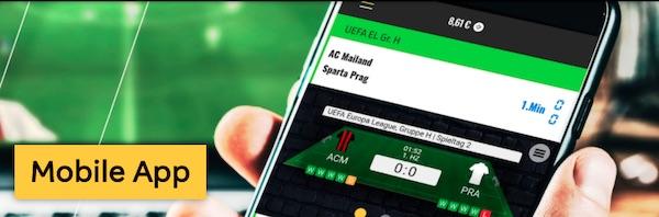 Mobile App von Merkur Sports