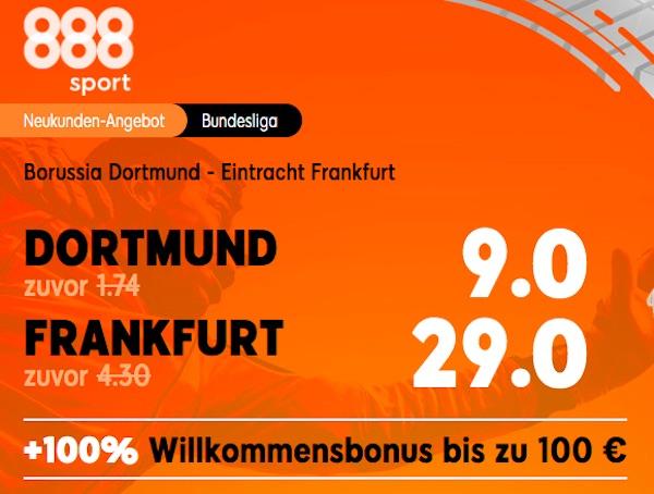 BVB vs SGE 888sport Neukunden