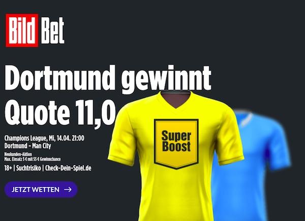 Bildbet Boost Borussia Dortmund vs Manchester City