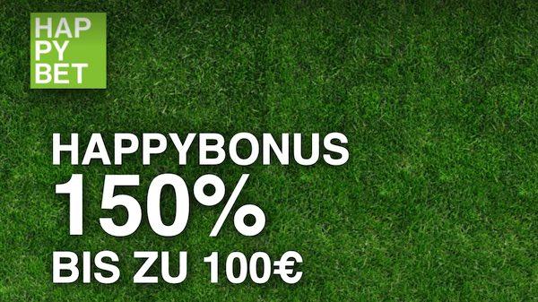 HappyBet Bonus bis zu 100 Euro