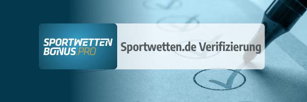 Verifizierung beim Wettanbieter sportwetten.de